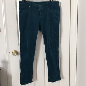 Stretchy Teal Colored Corduroy Pants